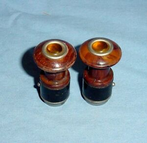 Matched Pair Cats Owl Eye Vintage Lighters Pierce Arrow Cadillac Packard Nash