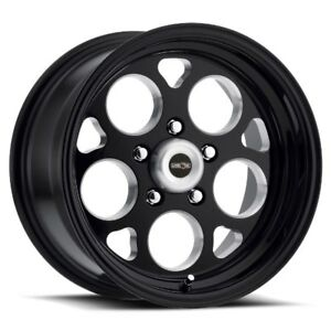 17x4 5 Vision 561 Sports Mag 5x120 Et 24 Black Rims New Set 4