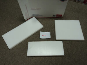 Cnc Mill Assorted Plastic White Delrin Acetal Block And Sheet Lot 3 Pcs 810
