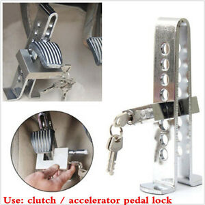 Car Auto Stainles Steel Brake Security Tool Anti Theft Device Clutch Pedal Lock