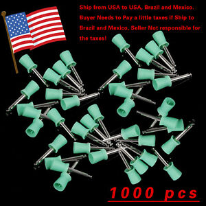 1000pcs Dental Prophy Brush Cup Polishing Cups Polisher Disposable Rubber Latch