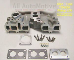 Offenhauser Dual Port Intake 6266dpw Fits Toyota 22r 1982 1990 W Weber 32 36