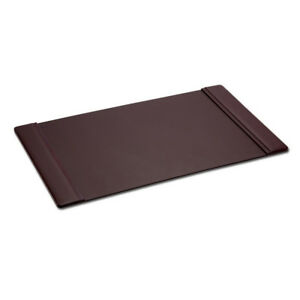 Chocolate Brown Leather Side Rail Desk Pad 38 x24