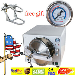 18l Dental Lab Autoclave Steam Sterilizer Equipment Medical Stainless gift Tool