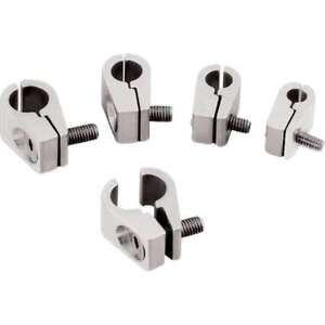 Billet Specialties 3 16 Id Polished Line Mounting Clamp 65110