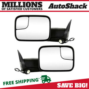 Power Heated Tow Side Mirror Pair For 1998 2001 Ram 1500 1998 2002 Ram 2500 3500
