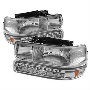 Spyder Auto 5069474 Crystal Headlights 1999 2002 Chevy Silverado 1500 2500 2001