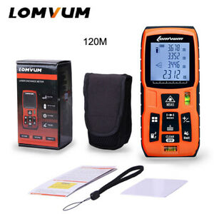 Lomvum 120m Electronic Tape Measure Ultrasonic Laser Distance Meter Measurement