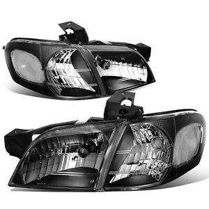 Fit 1997 2005 Chevy Venture Black Housing Headlight Clear Side Turn Signal Lamp