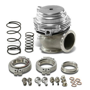 44mm Turbo Manifold Boost Silver External V band Clamp Flange Wastegate springs