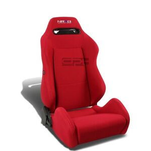 Nrg Type r Red Reclinable Sports Racing Seats universal Sliders Passenger Side