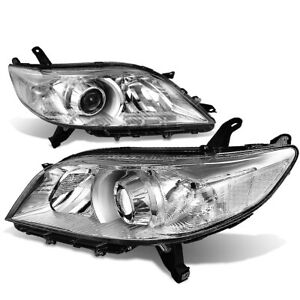 Fit 2011 2020 Toyota Sienna Pair Chrome Housing Clear Corner Headlight lamp Set