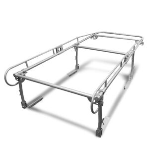 132 x 57 x31 75 silver Universal Pickup Trunk Bed Contractor Utility Ladder Rack