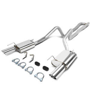 Fit 05 10 Ford Mustang 4 0 V6 Stainless Steel Catback Exhaust System Muffler Tip