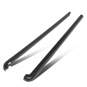 Fit 96 04 Toyota Tacoma 6ft Bed Pair Satin Black Truck Rail Caps Cover Molding