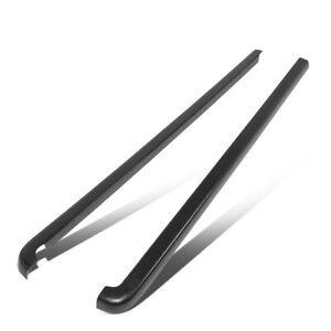 Fit 01 04 Toyota Tacoma Crew Cab Pair Satin Black Truck Bed Caps Rail Molding
