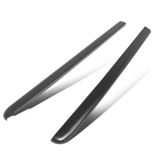 Fit 01 04 Chevy S10 Crew Cab Pair Satin Black Truck Bed Caps Rail Cover Molding
