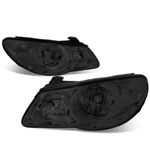 Fit 07 09 Hyundai Elantra Left right Smoked Housing Clear Side Headlight lamps