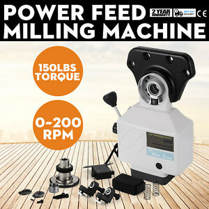 As 250 150lbs Torque Power Feed Milling Machine X axis Alsgs 110v