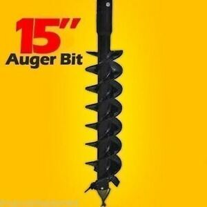 15 Skid Steer Auger Bit mcmillen Hdc for Difficult Digging 4 long 2 Hex Drive