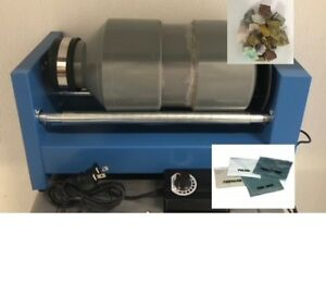15 lb Rotary Rock Tumbler Lapidary Polisher with Media and Madagascar stones