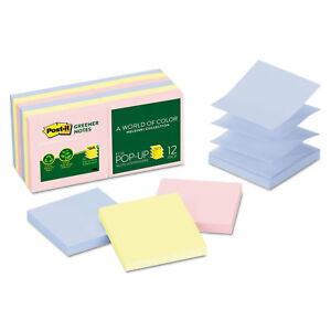 Post it Notes Greener Pop up Notes 3 X 3 Assorted Helsinki Colors 100 sheet