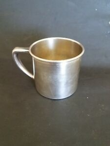 Vintage Antique Silver Plate Baby Childs Cup Mug No Monogram Or Etchings