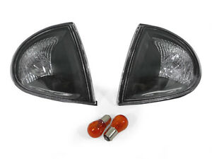 Depo Jdm style Black clear Corner Light Pair For 1993 1997 Honda Delsol Del Sol