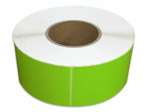 Thermal Transfer Labels Green Color 4 X 6 Required Ribbon 1000 rl 36 Rolls