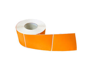 Thermal Transfer Orange Color Labels Required Ribbon 4 X 6 1000 rl 96 Rolls