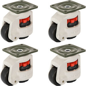 4 Pack Leveling Caster Gd 80f Plate Mounted Footmaster Leveling Caster 1102lbs p