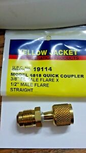 Yellow Jacket Quick Coupler 3 8 Female Flare X 1 2 Mf