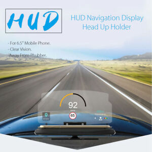 Universal 6 5 Car Hud Head Up Navigation Display Phone Holder Gps Projector