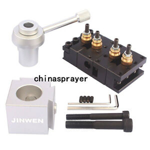 Mini Quick Change Tool Post Holder Kit Set For Table hobby Lathes