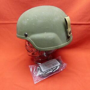 ACH MICH USED Helmet MSA size LARGE PADS Chinstrap Green L# 09