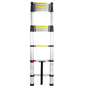 12 5ft Telescopic Ladder Single Side Extension 12 step Aluminum Stretchable New