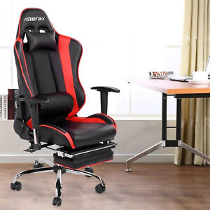 Merax Erogonomic Racing Gaming Chair High Back Pu Leather Office Computer Desk