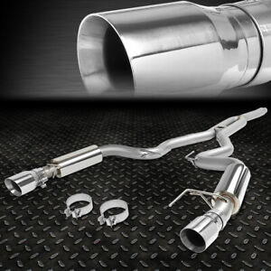 For 15 18 Ford Mustang 2 3l Ecoboost 3 Od Cat Back Exhauat System Muffler Tips