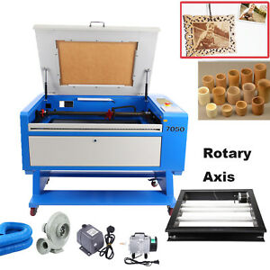 Usb 60w Co2 Laser Cutter Engraving Cutting Machine 700x500mm W Rotary Axis