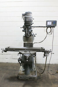 42 Tbl 1hp Spdl Bridgeport J Head Vertical Mill