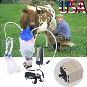 Portable Electric Milking Machine Vacuum Pump For Farm Cow Sheep Goat Milking Us