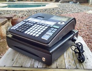 Casio Cash Register Model Pcr t48s Excellent Used Condition With Keys And Manual