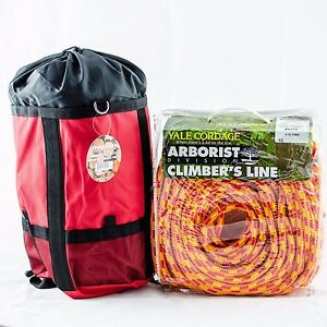 Xtc Fire Tree Climbing Rope yale 16 Strand Rated 6200lb Strength 1 2 x150 W bag