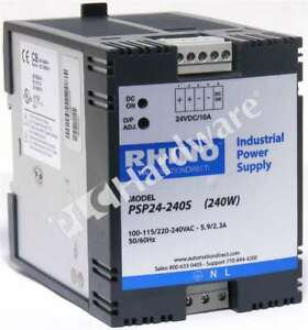 Rhino Psp24 240s Automation Direct Switching Power Supply 24v Dc 240w Qty