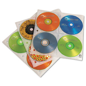 Case Logic Two sided Cd Storage Sleeves For Ring Binder 25 pack