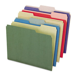 Pendaflex Earthwise Recycled File Folders 1 3 Top Tab Letter Assorted Colors