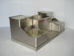 Stainless Ketchup Mustard Mayonnaise Sauce Concession Condiment Dispenser Bins
