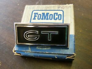 Nos Oem Ford 1968 Torino Gt Dash Emblem Ornament Trim Badge