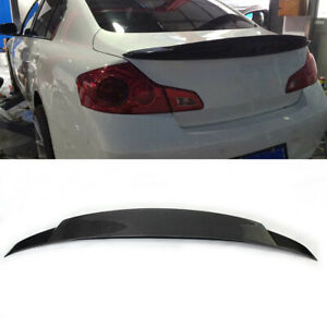 For Infiniti Sedan G37 Carbon Fiber Rear Trunk Spoiler Wing Lip Refit 2009 2013