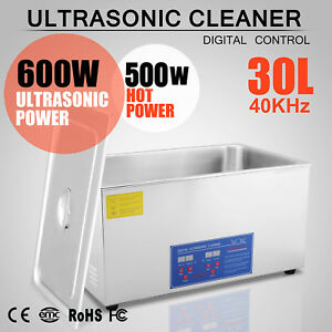 30l Industrial Ultrasonic Digital Cleaners Cleaning Equipment Heater Timer New